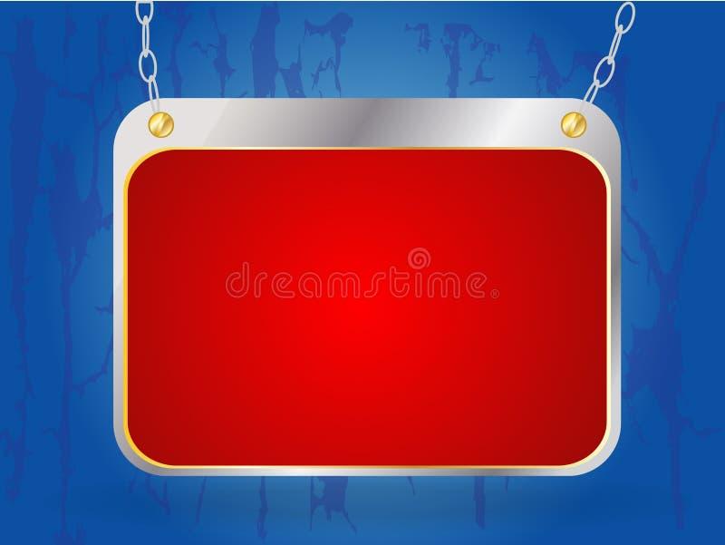 Adverterende frame raad vector illustratie