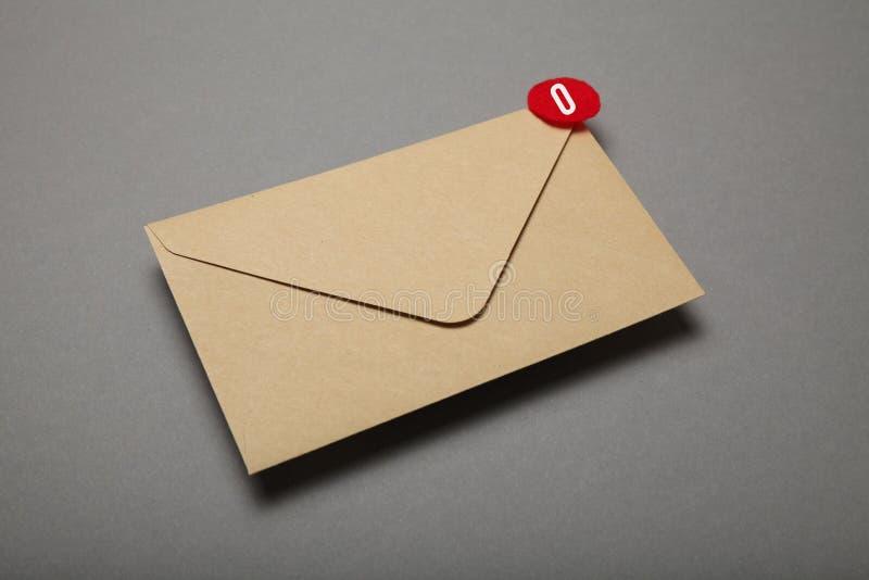 Adverterende post, cli?ntmededeling Bedrijfs mededeling stock foto