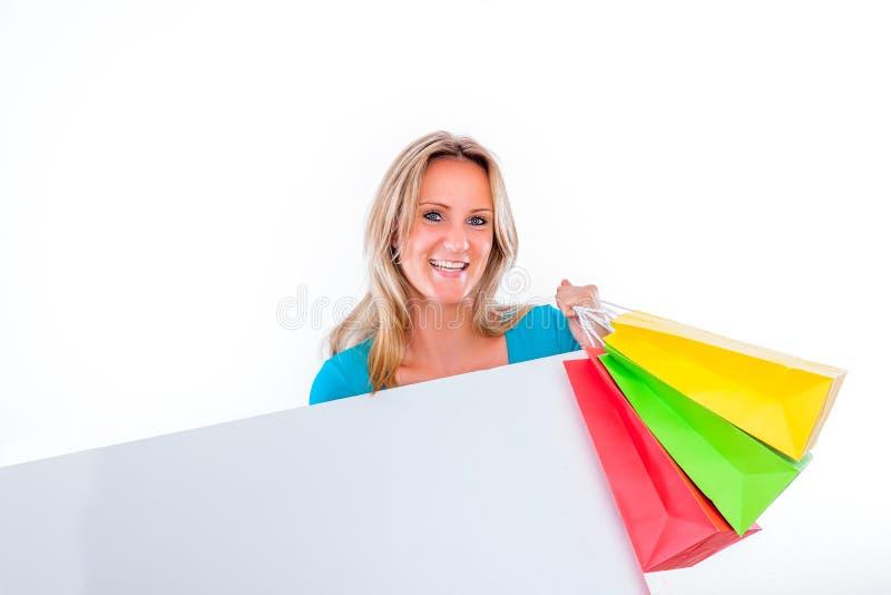 Adverterende winkels royalty-vrije stock foto