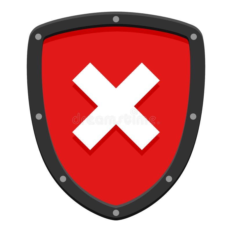 Advertindo o protetor liso não autorizado no branco ilustração royalty free