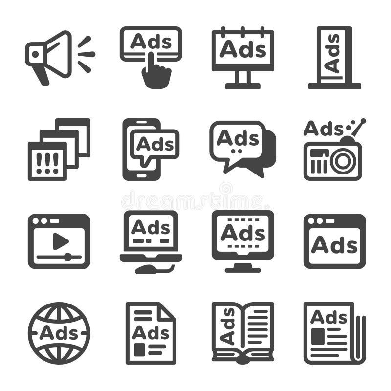 Advertise icon set stock image