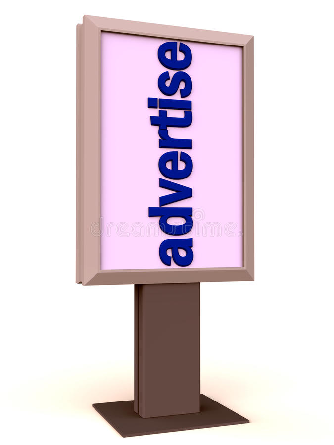 Download Advertise on a display stock illustration. Image of display - 25173579