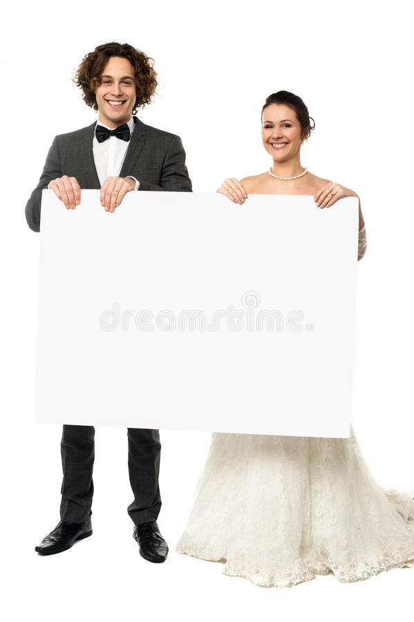 Advertise here for all your wedding needs royalty free stock images