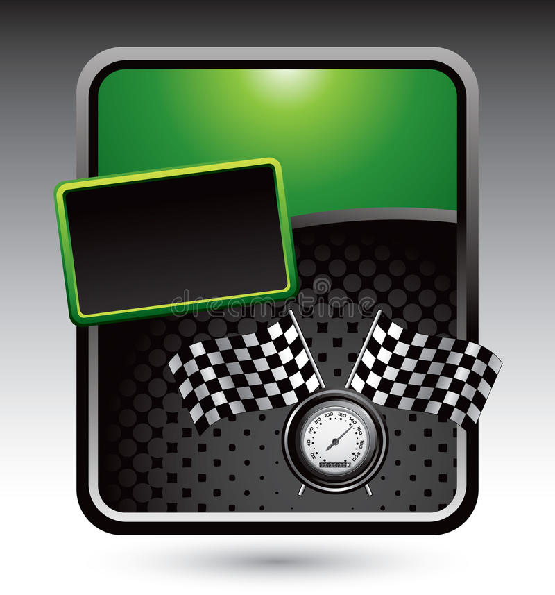 advertisemen flags green racing speedometer иллюстрация вектора