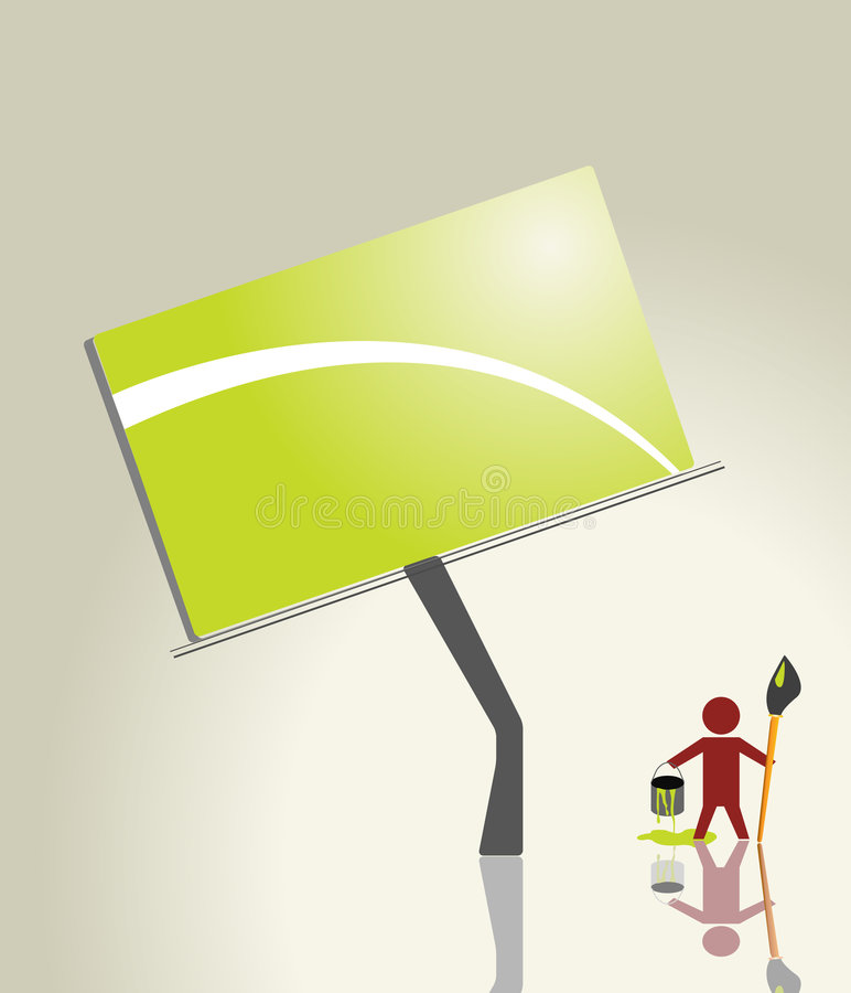 Download Advertisement stock vector. Image of green, urban, blank - 4004219