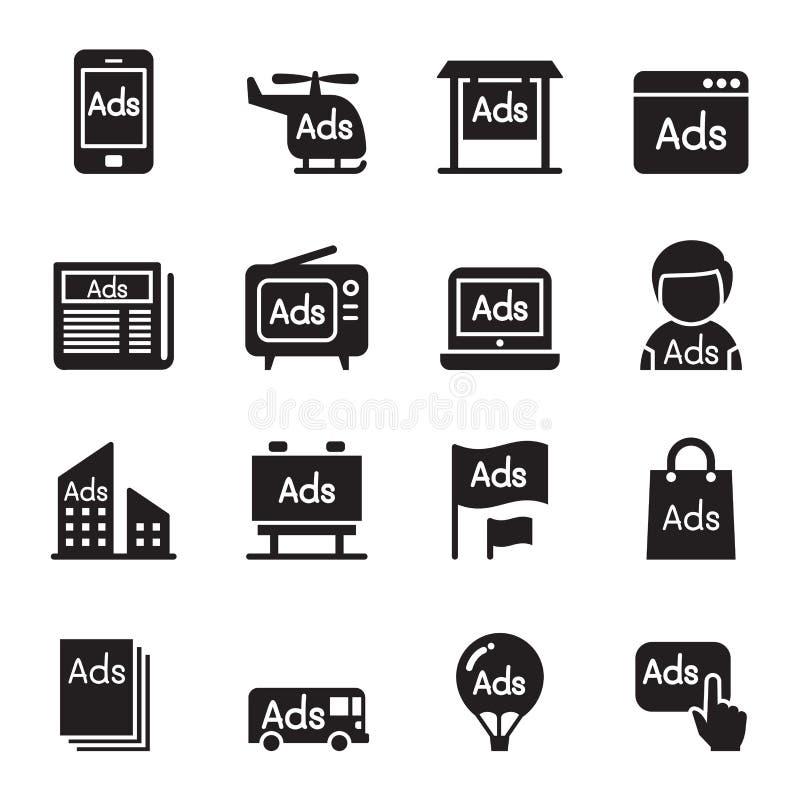 Advertisement icons royalty free illustration