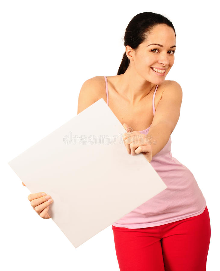 Download Advertisement placard stock image. Image of adult, board - 12746777