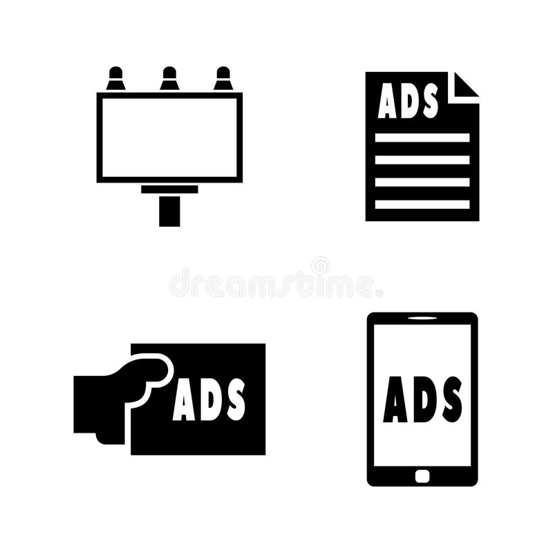 Advertisement. Simple Related Vector Icons royalty free illustration