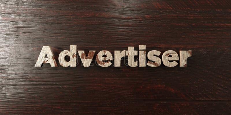 Advertiser - grungy drewniany nagłówek na klonie - 3D odpłacający się królewskość bezpłatny akcyjny wizerunek royalty ilustracja