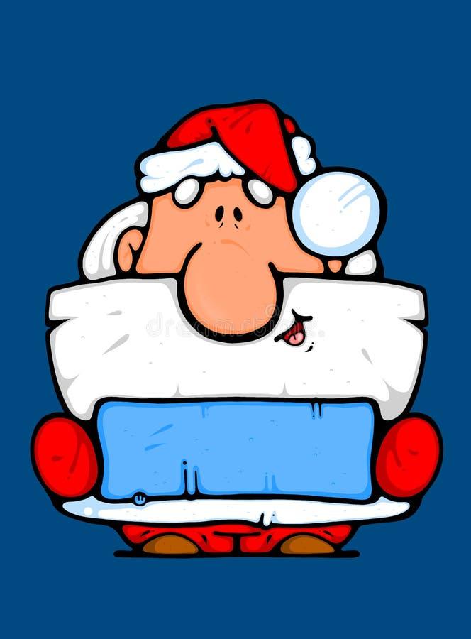 advertiser jako Claus Santa royalty ilustracja