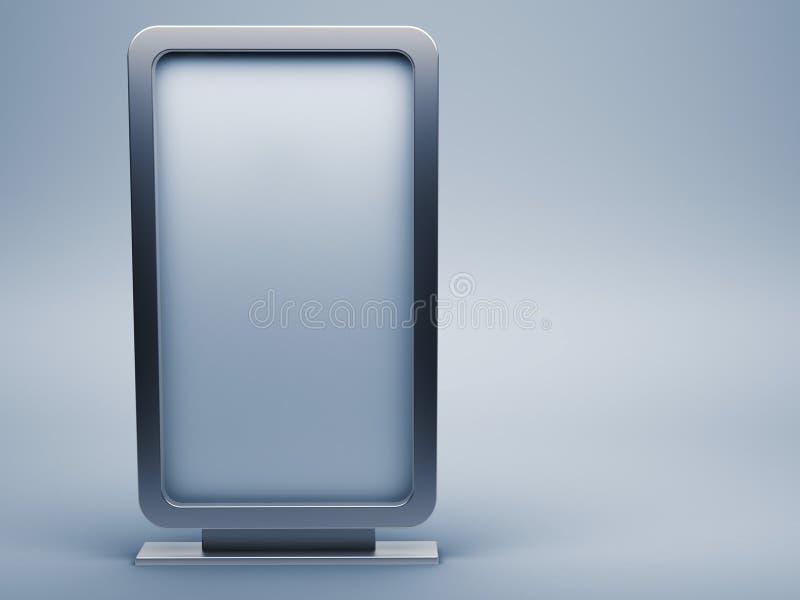 Advertising. Blank advertising board; 3d render stock illustration