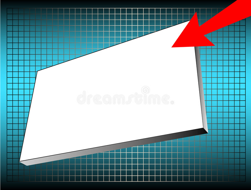 Advertising banner stock illustration