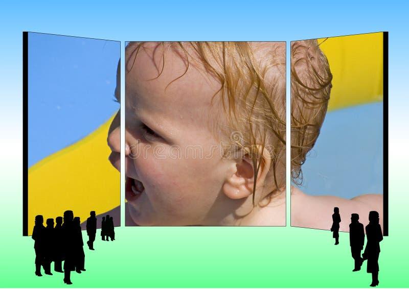 advertising billboard vector illustration