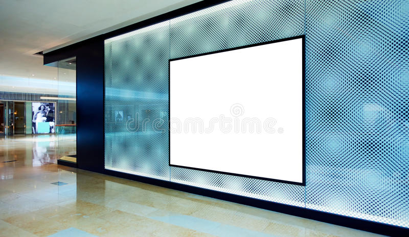 Advertising blank billboard royalty free stock photo