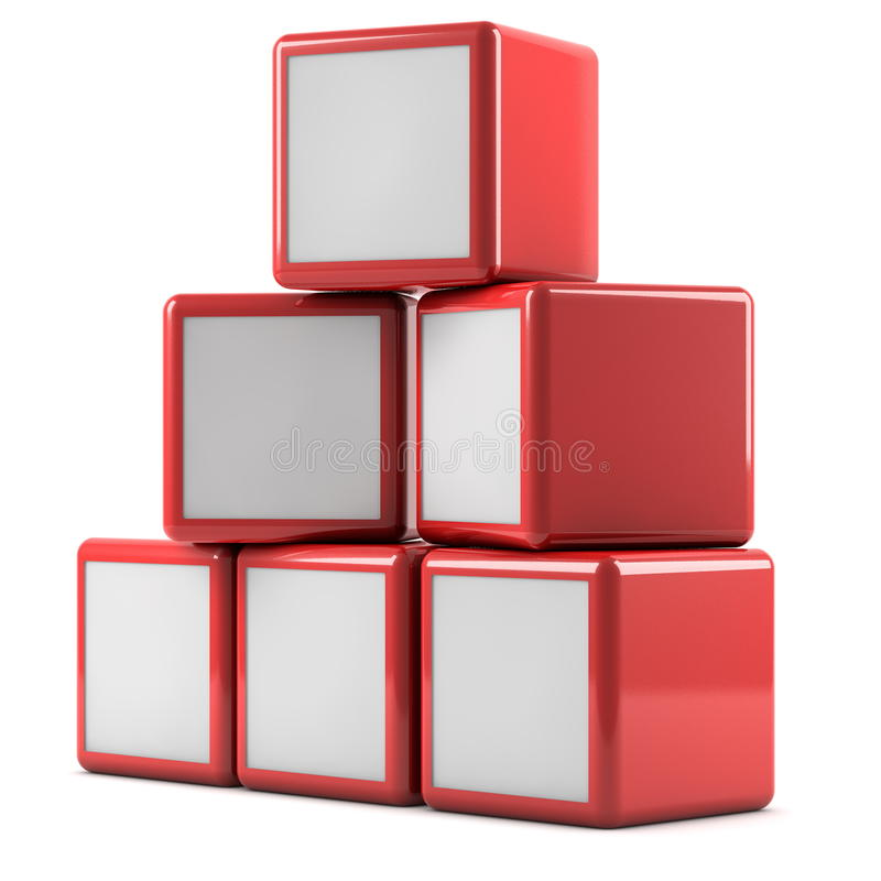 Advertising boxes. Pile on white background royalty free illustration