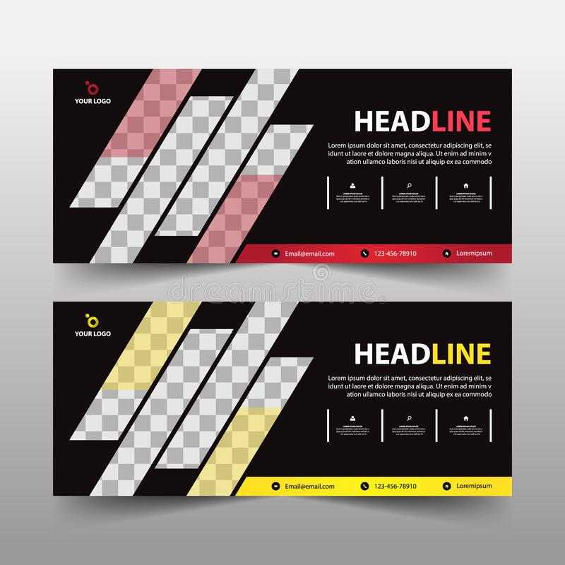 Advertising business banner template, horizontal advertising business banner layout template sign set , clean abstract cover. Header background for website vector illustration