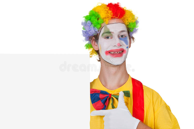 Advertising clown royalty free stock photos