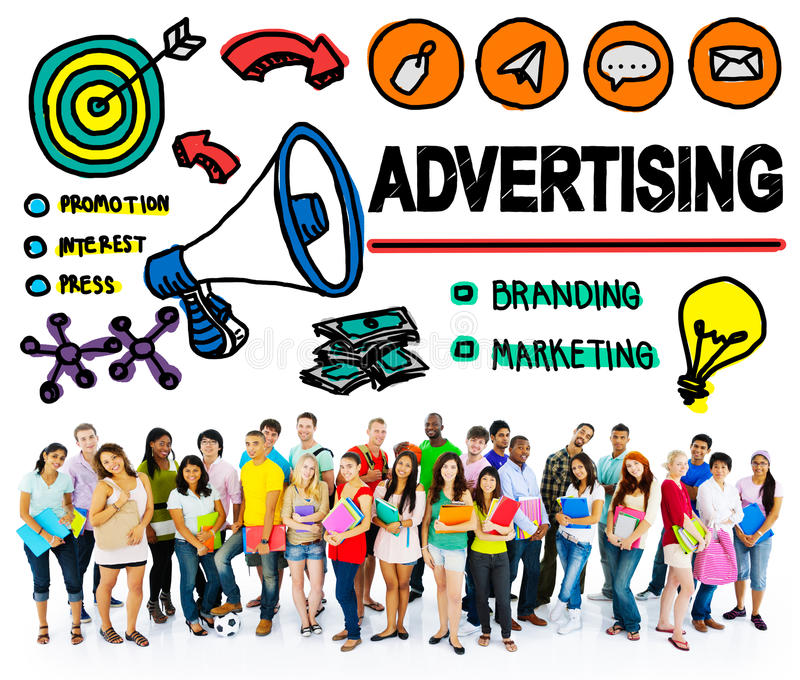 Advertising Commercial Online Marketing Shopping Concept royalty free stock image