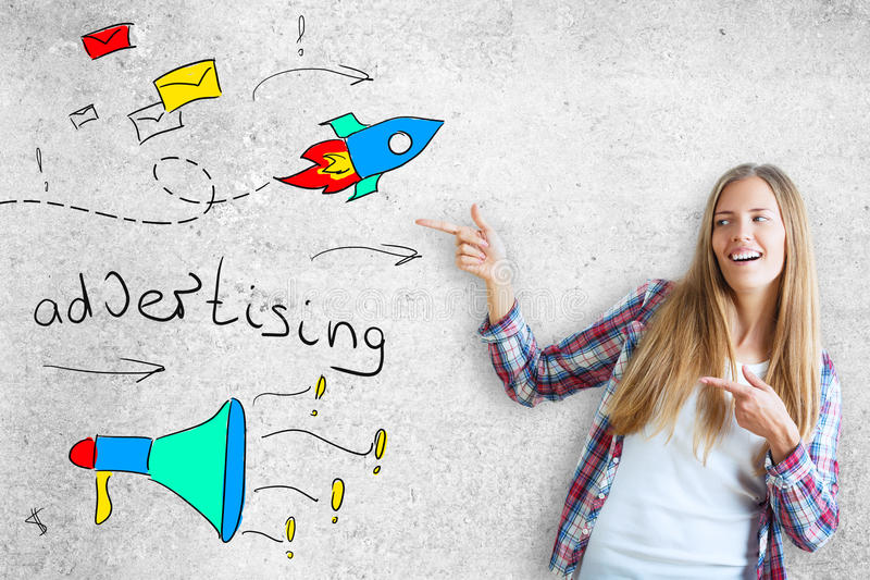 Advertising concept royalty free stock image