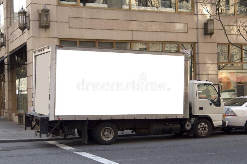 advertising delivery ready truck στοκ φωτογραφίες