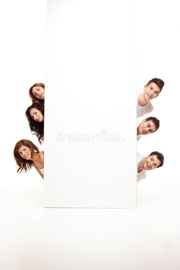 Advertising friends hiding