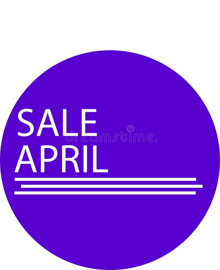 ADVERTISING ICON FOR YOUR PRODUCT SALE APRIL MONTH stock photos