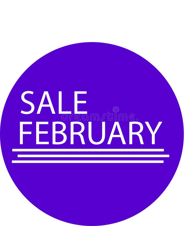 ADVERTISING ICON FOR YOUR PRODUCT SALE FEBRUARY MONTH stock photos