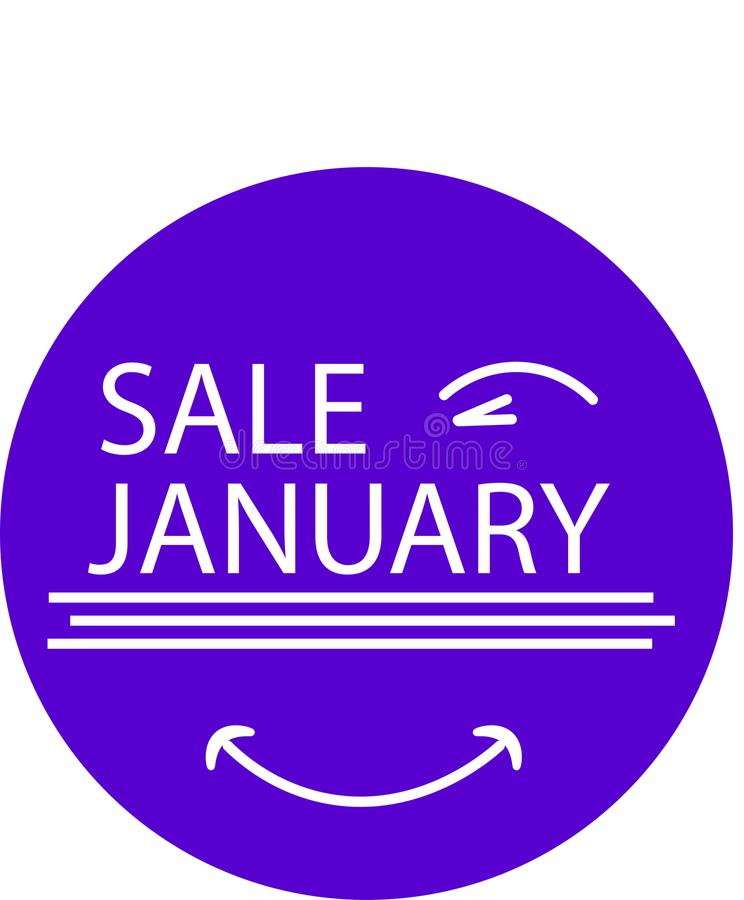 ADVERTISING ICON FOR YOUR PRODUCT SALE JANUARY WITH EYE stock photos