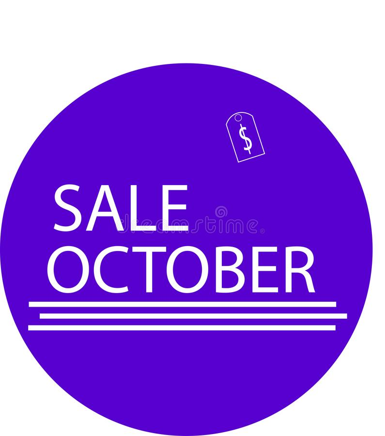 ADVERTISING ICON FOR YOUR PRODUCT SALE OKTOBER stock photography
