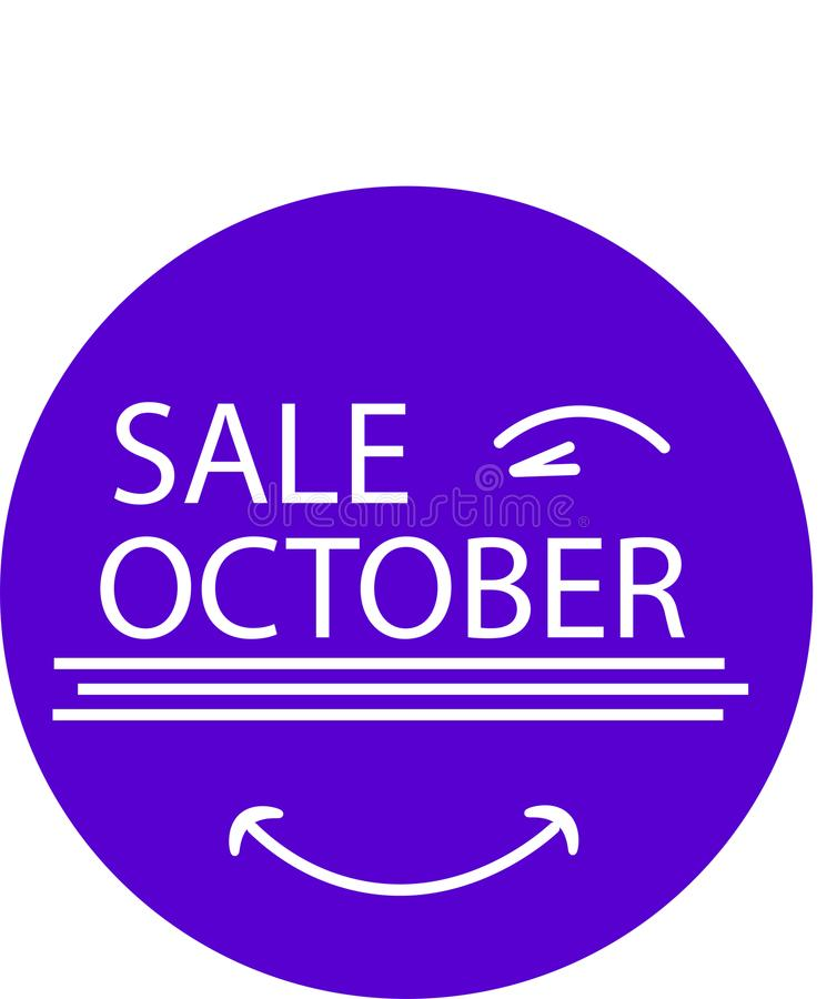 ADVERTISING ICON FOR YOUR PRODUCT SALE OKTOBER WITH EYE royalty free stock photography