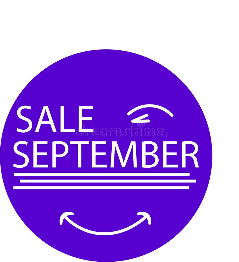 ADVERTISING ICON FOR YOUR PRODUCT SALE SEPTEMBER WITH EYE royalty free stock photo