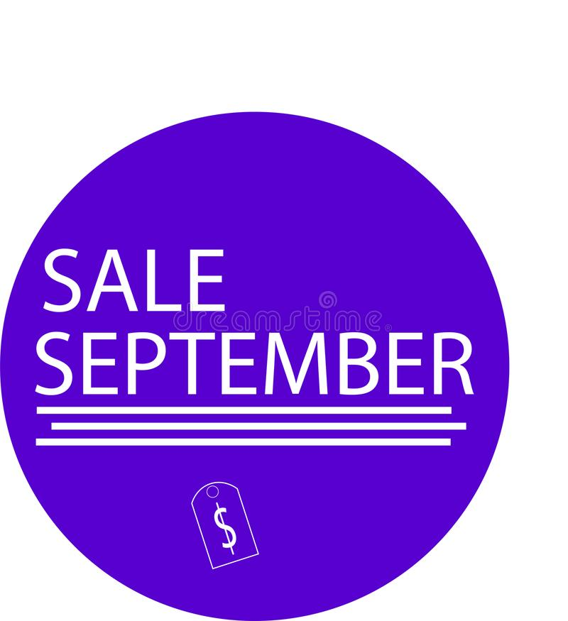ADVERTISING ICON FOR YOUR PRODUCT SALE SEPTEMBER stock images