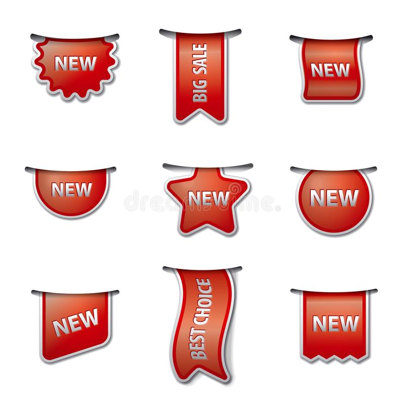 Advertising labels and tags royalty free illustration