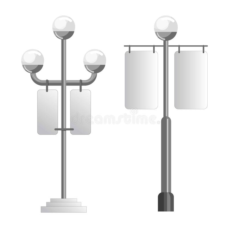 Advertising media spaces outdoor light pole vector icons set stock download advertising media spaces outdoor light pole vector icons set stock vector illustration of isolated aloadofball Gallery