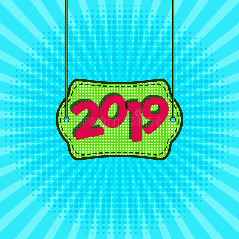 Advertising New Year s poster template for your design. vector illustration