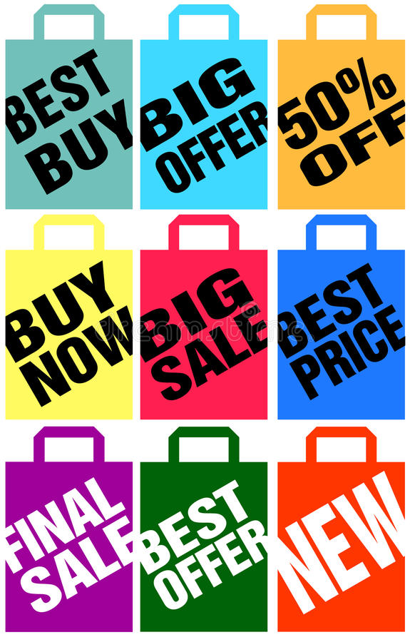 Download Advertising Paper Bags Royalty Free Stock Photos - Image: 21637088