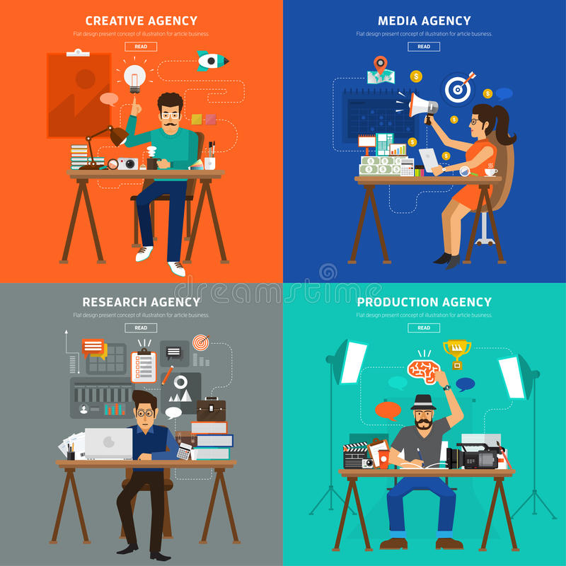 Advertising people vector illustration