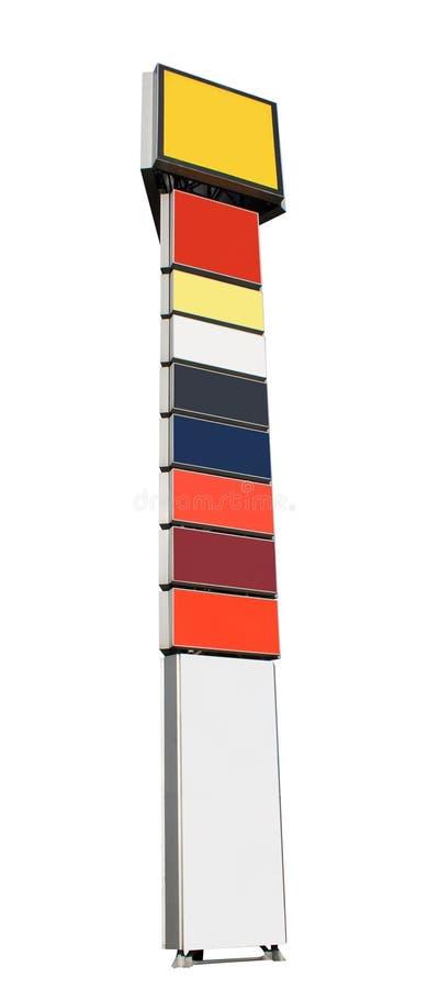 Advertising pillar stock photography