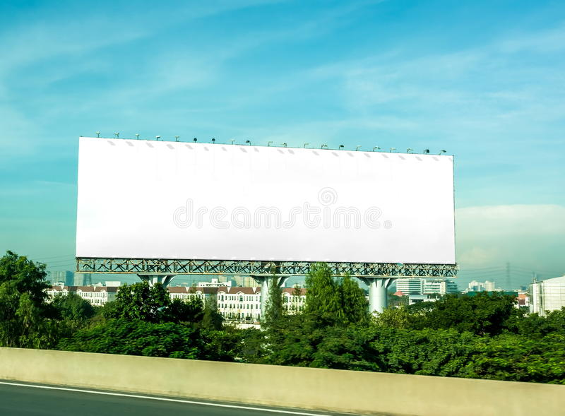 Advertising pillars. Along the highway royalty free stock photography