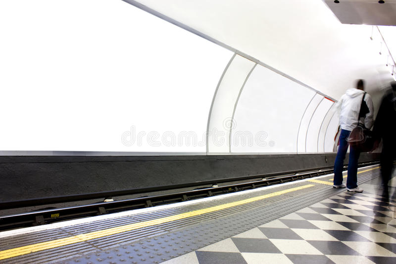 Advertising Poster Site In London Underground Royalty Free Stock Photography