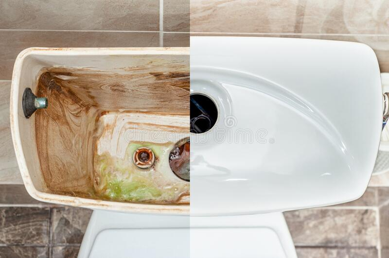 Advertising service for the care of home plumbing.  stock image