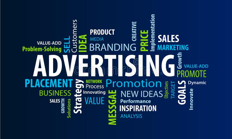 Advertising Word Cloud stock illustration