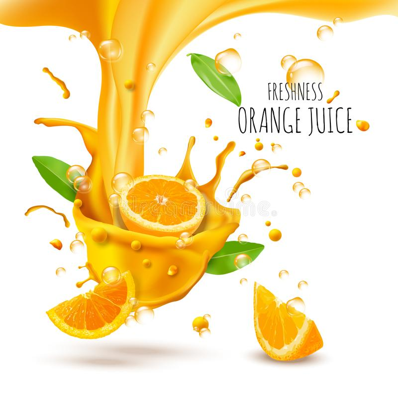 Advertisment with fresh oranges. Advertisment with fresh oranges, vector illustration and design royalty free illustration