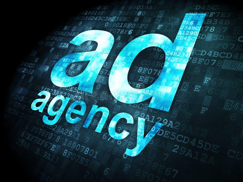 Advertizingbegrepp: Annonsbyrå på digitalt arkivbild