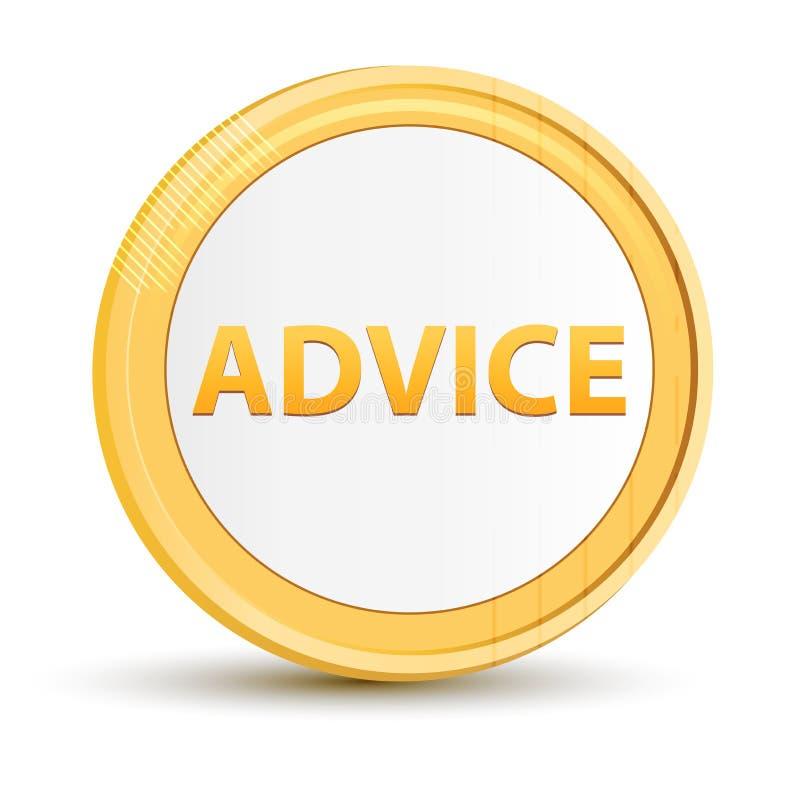 Advice gold round button vector illustration