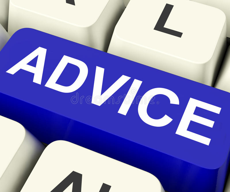 Download Advice Key Means Recommend Or Suggest Stock Illustration - Image: 34214700