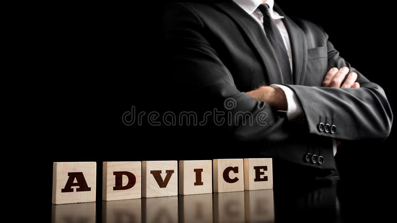 Advice Letters on Arrange Small Wooden Pieces stock photos