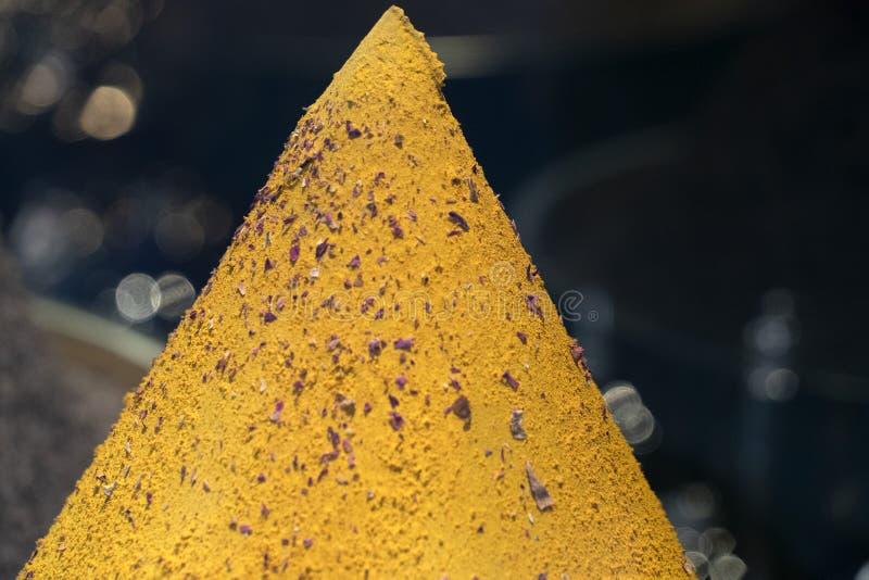Advieh pikantności proszka żółty szczegół fotografia royalty free