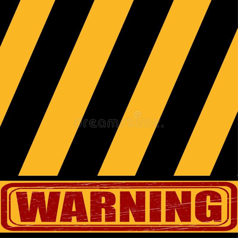 Advirta, o sinal preto do amarelo diz sobre o perigo ilustração royalty free