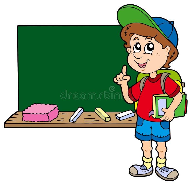 Advising School Boy With Blackboard Royalty Free Stock Photo